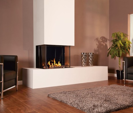Luxe Designer Gas Fireplace