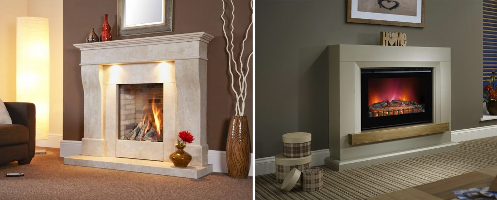 gas or electric fire